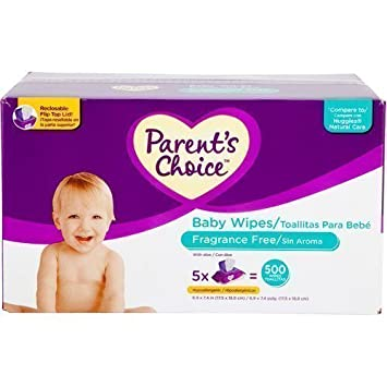 Parents Choice - Unscented Baby Wipes, 500 ct by Parent\s Choice