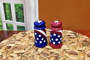 "American Flag Salt & Pepper Set of 2 8.75""h By Ack"