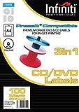 Infiniti RSWL100 A4 Matt CD Label (100)
