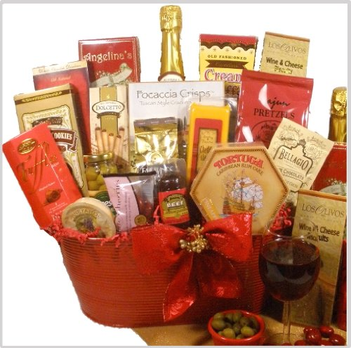 "Delight Expressions™ ""Christmas Cheer"" Holiday Gourmet Food Gift Basket"