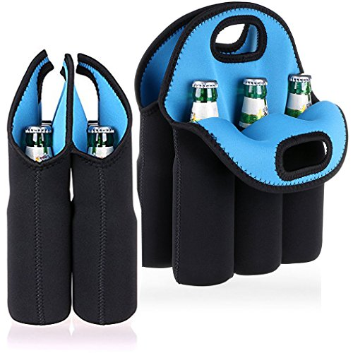 Crioxen 6 Pack Neoprene Baby Bottle Carrier Holder Breastmilk Cooler Tote Warmer Milk Storage Bags Can Beer Water Bottle Carrier Perfect For Travel Outdoor Picnic ()