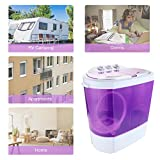 KUPPET Mini Portable Washing Machine, Compact Durable Design to Wash All Your Laundry, Twin Tub Washer Dryer Combo Apartments, Dorms, RV Camping Swim Suit Spinner Dryer (Purple)