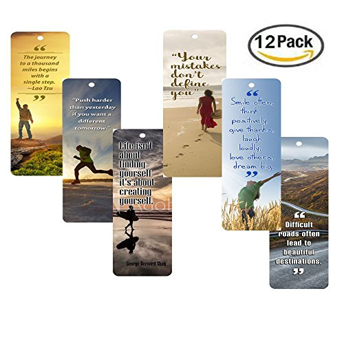 NewEights Inspirational Bookmarks (12-Pack) for Men and Women