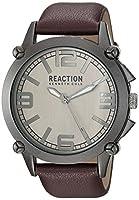 Kenneth Cole REACTION Men's 'Sport' Quartz Metal Casual Watch, Color:Brown (Model: 10030947)