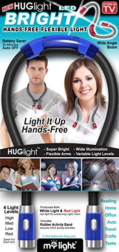 My Light HUG LIGHT LED Hands Free Flexible Book Light