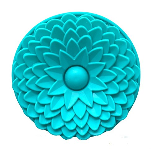 (FantasyDay 9'' Sunflower Cake Mold Silicone Baking Molds for Your Birthday Cake, Soap, Donut, Ice Cube, Muffin, Brownie, Cornbread, Cheesecake, Panna Cotta, Pudding, Jello Shot and More)