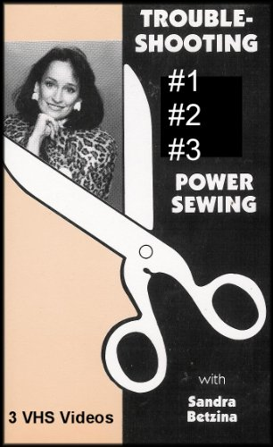 Trouble Shooting 3 VHS Video Set: Power Sewing [3 VHS Videos, #1-#2-#3] (Needle Embellishment)