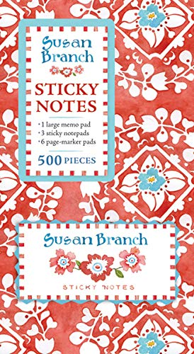 Book of Sticky Notes: Susan Branch (Red Medallion)