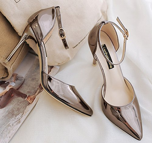 Delicate Pointy Women's Gun Ankle Shoes Toe Sandals Strap Aisun 5gxnq7n