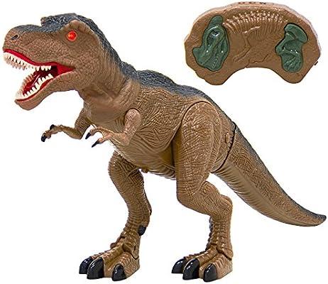 Green Sounds BCP 21in Kids Walking Velociraptor Dinosaur Toy w/ Lights