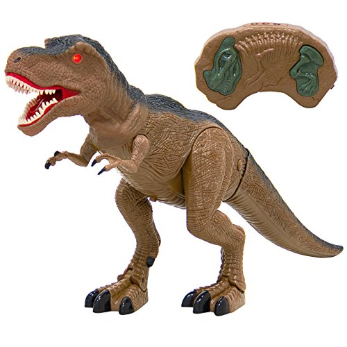 Best Choice Products 19in Kids Walking Remote Control Tyrannosaurus Rex Dinosaur RC Toy w/ Light-Up Eyes, Sounds