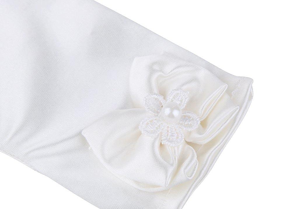 Tortor 1Bacha Kid Party Wedding Flower Girl Wrist Length Satin Dress Gloves White