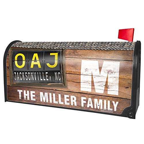 NEONBLOND Custom Mailbox Cover OAJ Airport Code for Jacksonville, NC]()