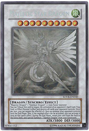 Yu-Gi-Oh! - Majestic Majestic Majestic Star Dragon (SOVR-EN040) - Stardust Overdrive - Unlimited Edition - Ghost Rare by Yu-Gi-Oh! f624cc