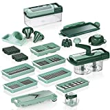 Genius Nicer Dicer Fusion Smart | 28 Pieces | Includes Nicer Twist, Universal Slicer, Cutter, Slicing Dice, allumette, Spirals, Fruit and Vegetable Slicer.