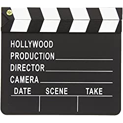"Amscan Night Hollywood Themed Party Movie Scene Marker Clapper Decoration (Pack Of 1), Black/White, 7"" x 8"""