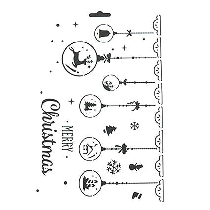 JUNGEN Plástico dibujo plantillas de pintura diseño de navidad molde para DIY álbumes de recortes,