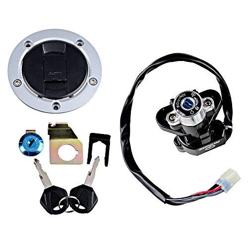 Full Set Compatible with Suzuki Ignition Switch w/Gas Fuel Tank Cap + Seat Lock + 2 Keys (Size 1)