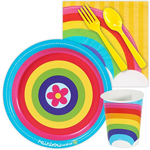 Rainbow Wishes Party Supplies - Snack Party Pack