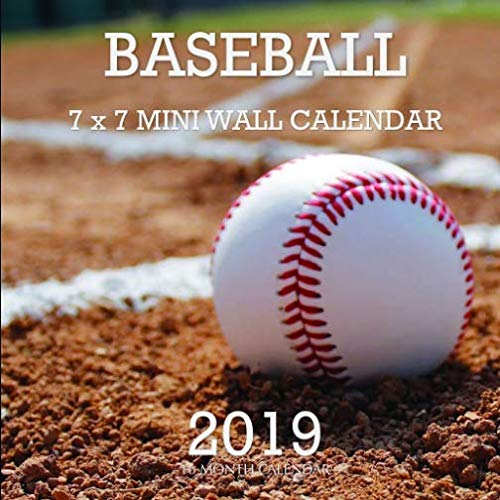 Baseball 7 x 7 Mini Wall Calendar 2019: 16 Month Calendar