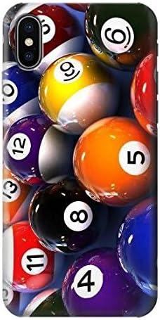 Billiard Pool Ball Funda Carcasa Case para IPHONE X: Amazon.es: Electrónica