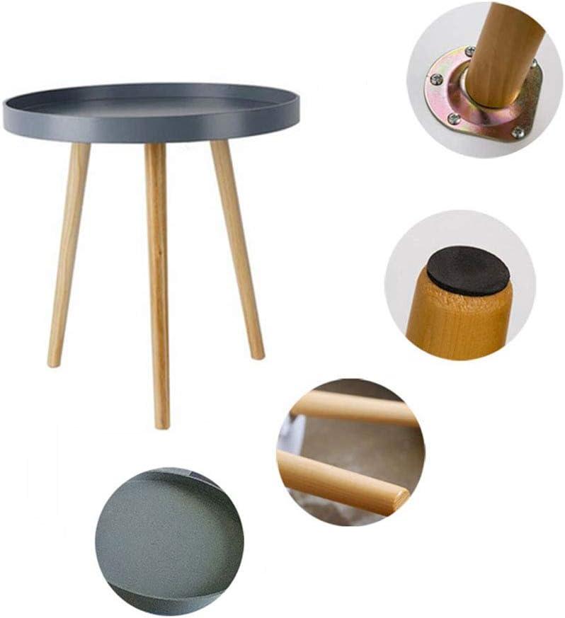Leuk ZRtable Noordse salontafel voor kleine woningen kleine ronde tafel massief hout bijzettafel balkon erker bijzettafel met antislip tafelpoten D tlfTdXZ