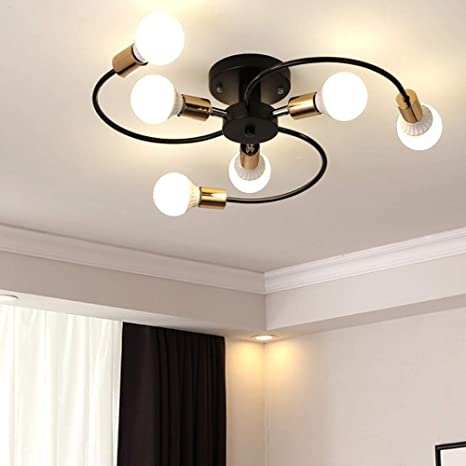Moderno Lámpara de techo Lingkai Rotativo Creativo 6 luces ...