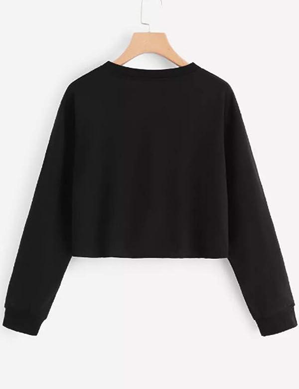 Sweat Shirt Court Femme, Sweatshirt Ado Fille