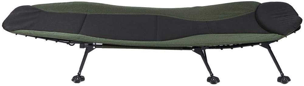 GOTOTOP 6 Leg Recliner Folding Bedchair with Pillow Bed Chair for Fishing Camping Office Lunch Break 167 x 63 x 34cm