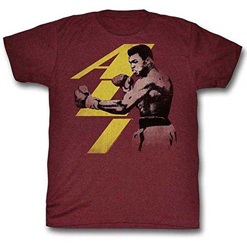 Cranberry Punch (Muhammad Ali Men's Punch T-shirt X-Large Heather Cranberry)
