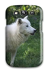 Fashion Tpu Case For Galaxy S3- Arctic Wolf Defender Case Cover