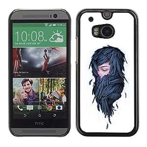 HTC One M8 , Woman In Feathers - Pop Art - Cáscara Funda Case Caso De Plástico