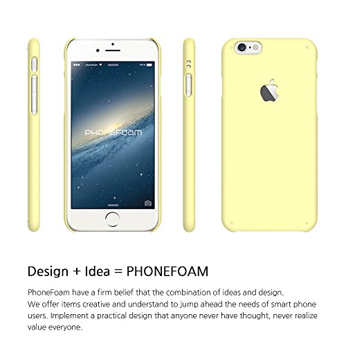 pretty nice 71b8c 01167 PhoneFoam Co. Ltd. Iphone 6 Case (4.7) Phonefoam® Sugar Pastel Series  Simple Hard Case - Retail Packing (Pastel Lemon)