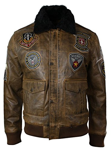 Mens Aviator Flying Pilot Bomber Jacket Vintage