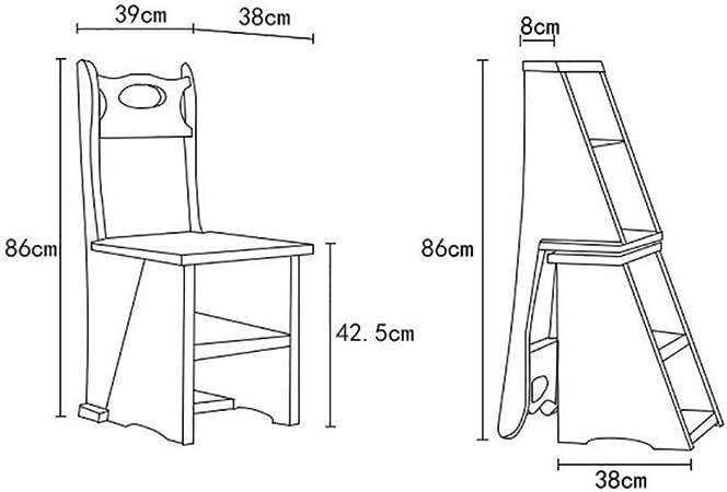 JTD Inicio escalera taburete de madera taburete de madera plegable multifunción Sillas de escalera nórdica creativo Fourlayers plegable de múltiples capas sólidas escaleras de mano y de heces Silla: Amazon.es: Bricolaje y
