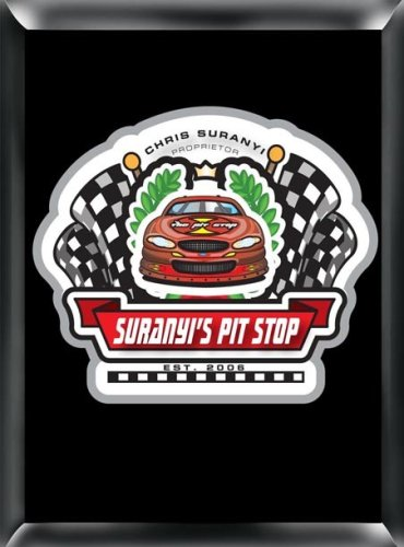 (Personalized Pub Sign with Racing Pit Stop Theme)