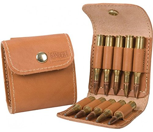 Bandera Leather - Leather Ammo Case – Brown – 10 Regular Loops