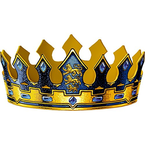 Liontouch 29.102 29100LT Triple Lion Foam King's Crown for Kids, Costume Set with A Sword and Accessories, Gold/Black