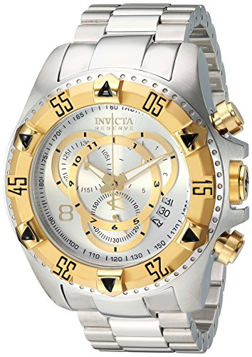 Invicta Men's 1877 Reserve Chronograph Silver Dial Stainless Steel Watch