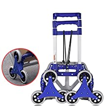 HCC& Luggage Cart Foldable Portable Personal Moving 360° Rotate Wheels Climb the stairs Hand Truck High Capacity Warehouse Shopping Cart