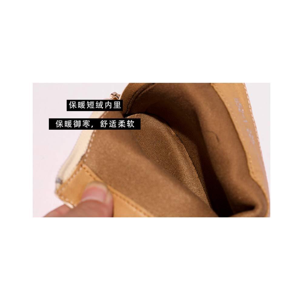 Qingchunhuangtang Hochhackige Stiefeletten weibliche Herbst und Winter quadratische Kopf Kopf Kopf dick mit Stiefel Kurze Schlauch wild dünne Stiefel a0e1fe