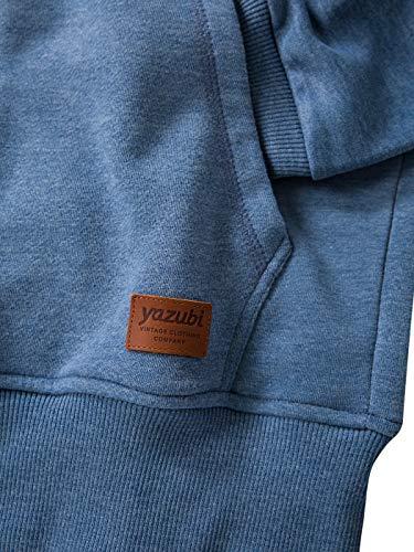 2r183921 Hoodie Yazubi Jacob bijou Homme À Sweat Bleu shirt Mélange Capuche Blue wwRPXq