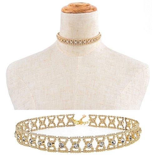 Rhinestone Crystal Pendant Necklace Jewelry