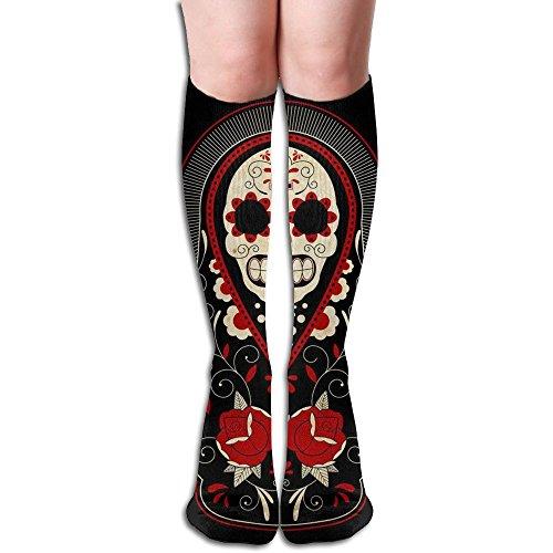 Skull Russian Doll Women Crazy Knee High Socks Soccer Socks For - Russian Women Tube
