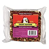 """Happy Hen Treats 7.5 Oz. Square-Mealworm And Peanut, 4.25"""" By 4.25"""" By 1.25"""""""