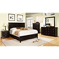 247SHOPATHOME Idf-7113EX-CK-6PC Bedroom-Furniture-Sets, California King, Espresso