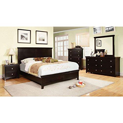 espresso finish cal king size 6 piece bedroom set