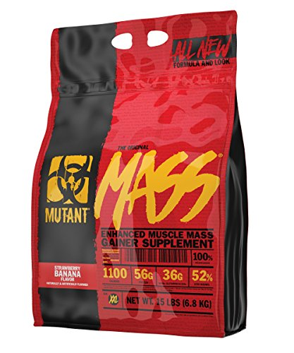 Gainer Banana - Mutant Mass – Award Winning Weight Gainer Featuring A 10 Whey, Casein, And Egg Protein Blend In Delicious Gourmet Flavors - Strawberry Banana Flavor