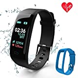 FSYCQ Fitness Tracker,Color Screen Activity Tracker Watch with Blood Pressure Blood Oxygen, IP67 Waterproof Smart Heart Rate Sleep with Monitor Calorie Counter Pedometer Band for Men, Women and Kids