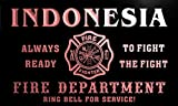 qy2406-r INDONESIA Fire Dept Fireman Gift Home Decor Neon Light Sign